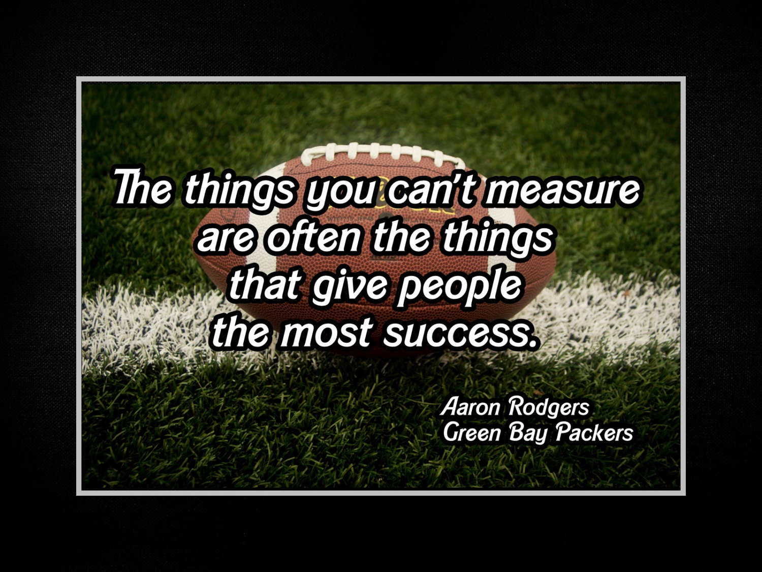 Green Bay Packers Wall Art football motivation aaron rodgers packers photo quote poster wall