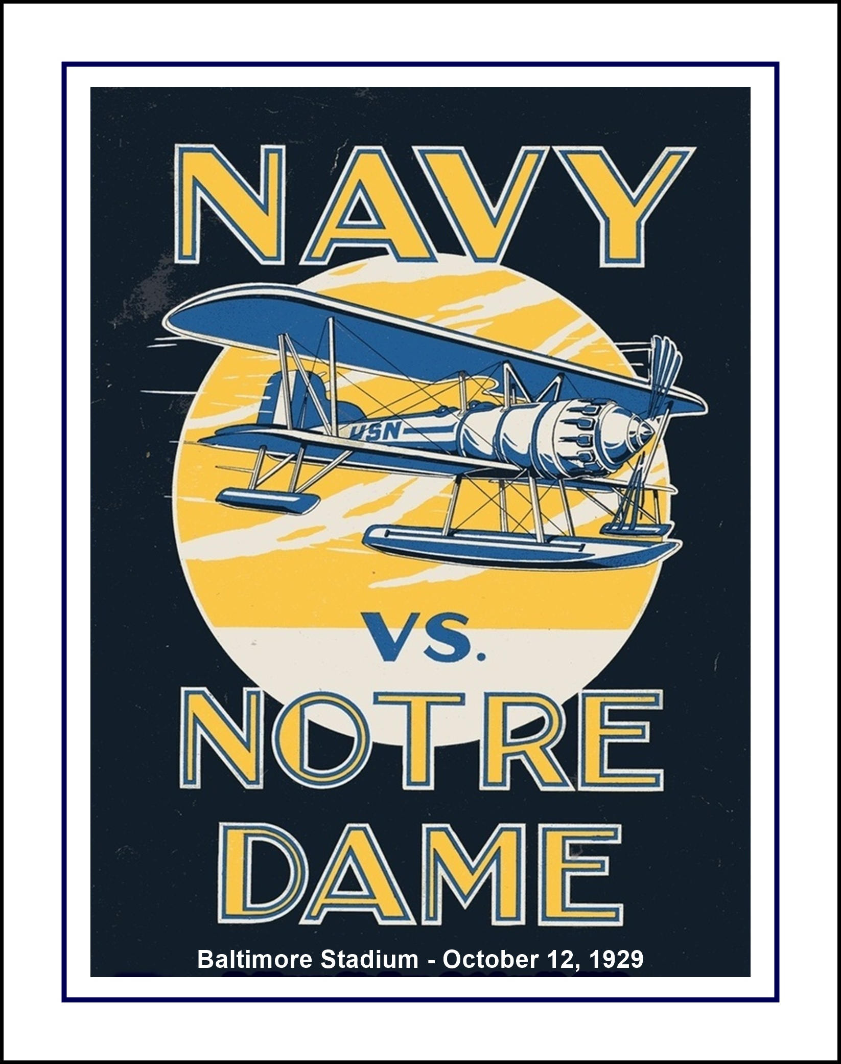 Notre Dame Wall Art vintage notre dame, navy, football poster, fighting irish wall art