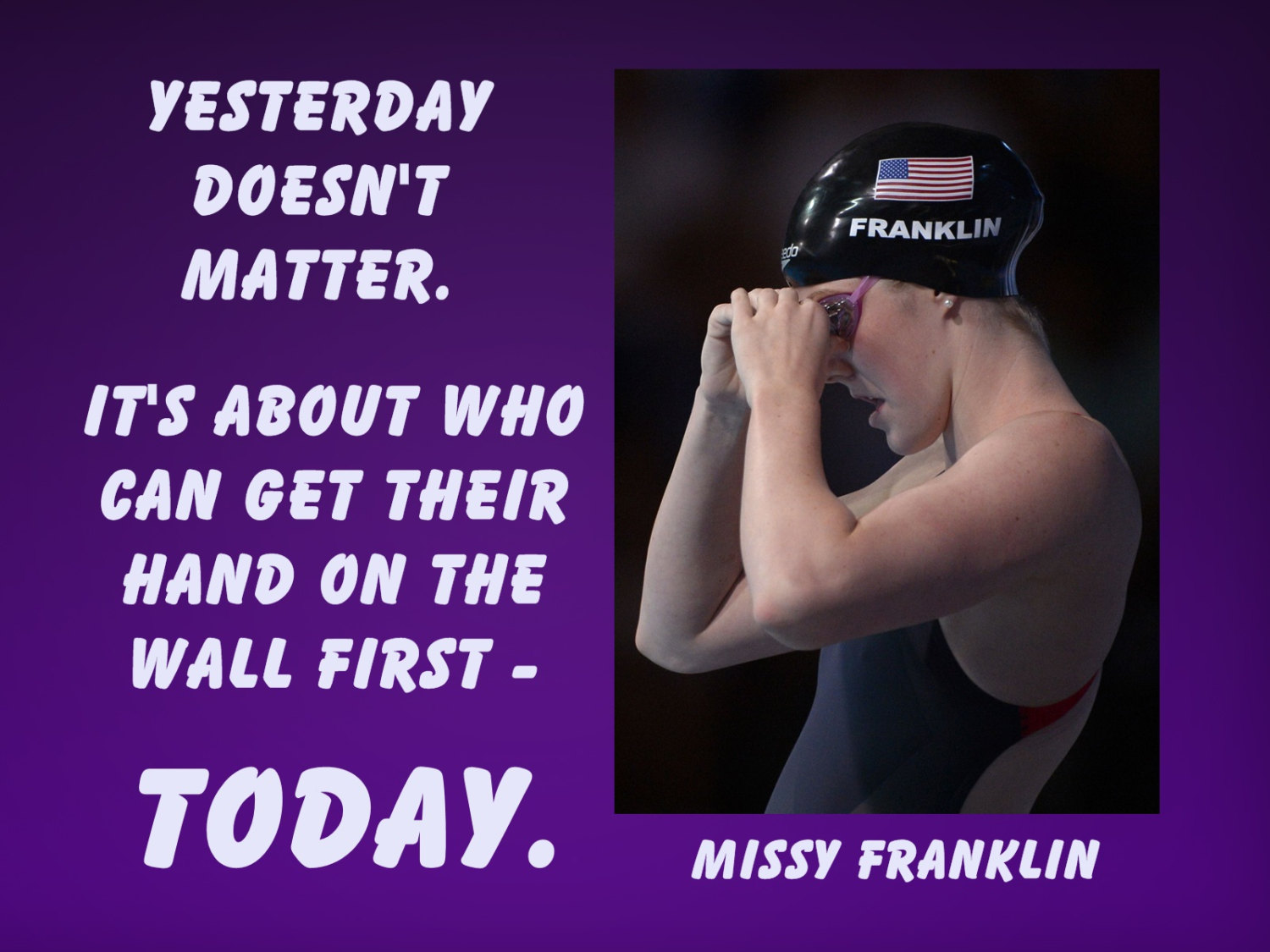 Famous tv character quotes quotesgram - Missy Franklin Swimming Quotes Quotesgram