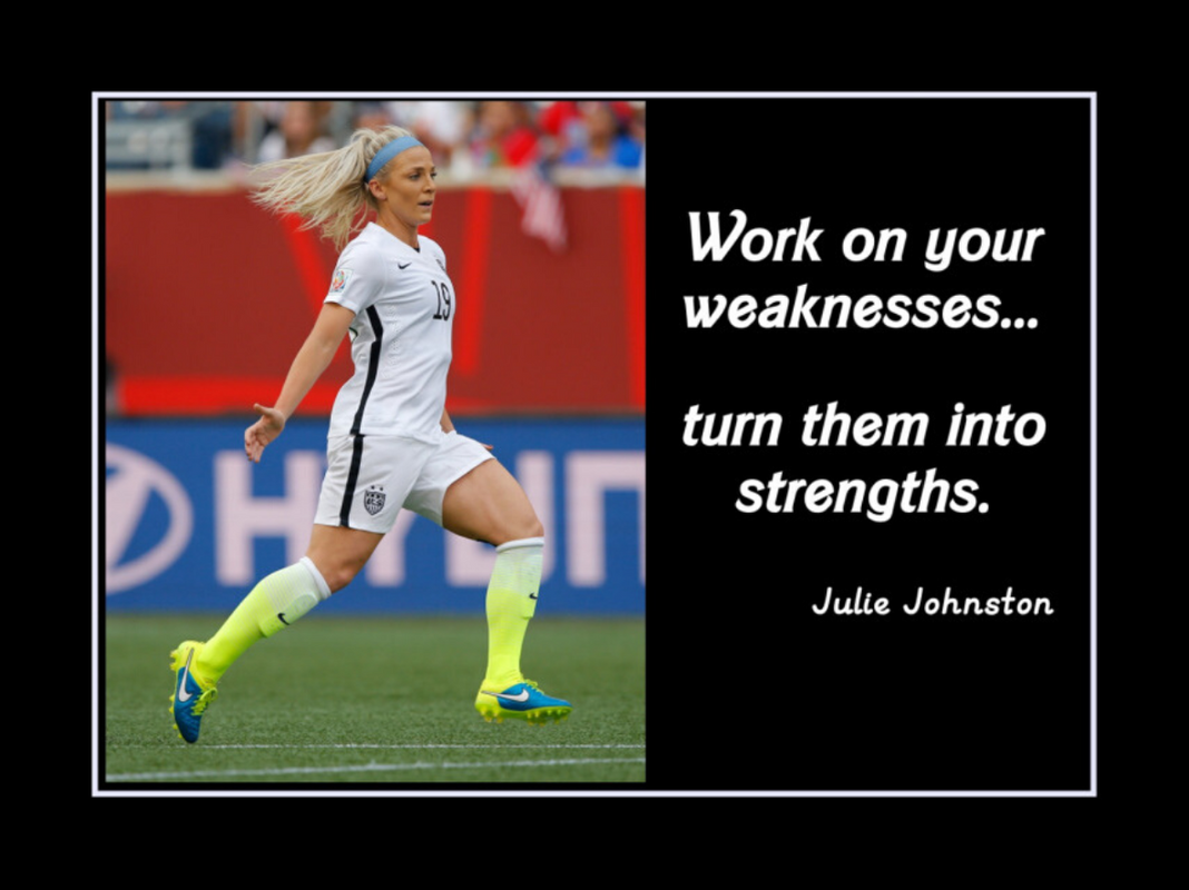 Julie Johnston motivational poster