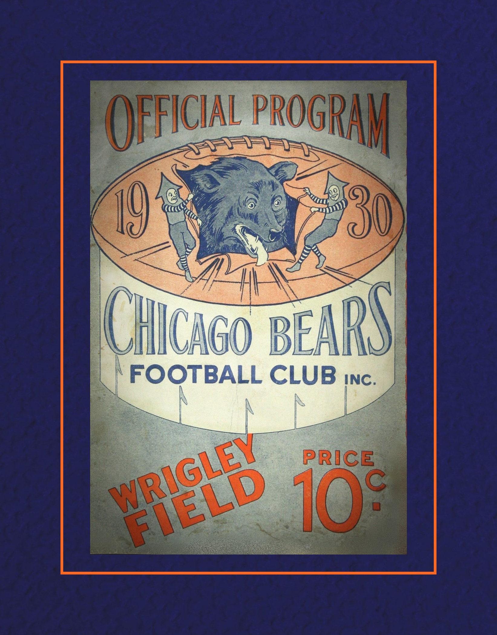 Arleyart vintage 1930 chicago bears wall decor football arleyart vintage 1930 chicago bears wall decor football program cover art poster nfl fan wall decor gift amipublicfo Choice Image