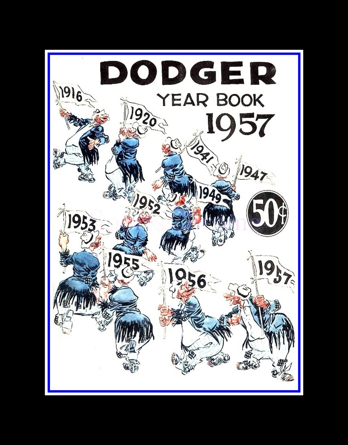 ArleyArt.com: Brooklyn Dodgers Yearbook Cover Wall Art, 1957 Baseball Wall  Decor, Son Wall Art Gift, Dad Wall Decor
