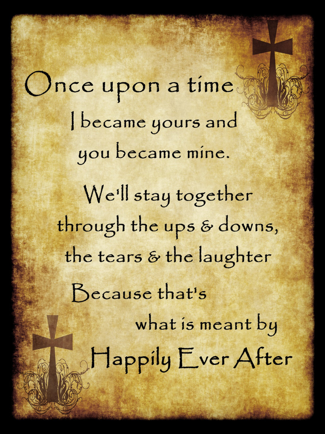 ArleyArt.com: Wedding Gift, Happily Ever After Newlywed Vow Poster ...