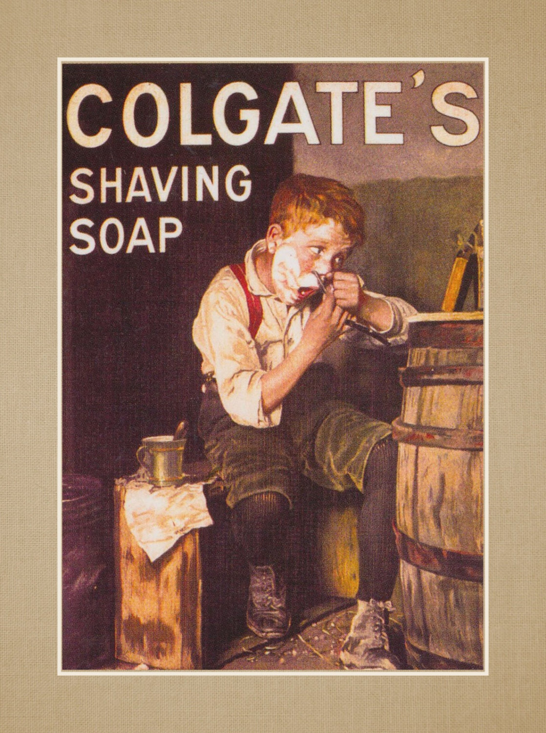 Colgate Shaving Soap Vintage Wall Art Gift Manly Bathroom Decor Masculine Poster 8x10 11x14 Free Ship