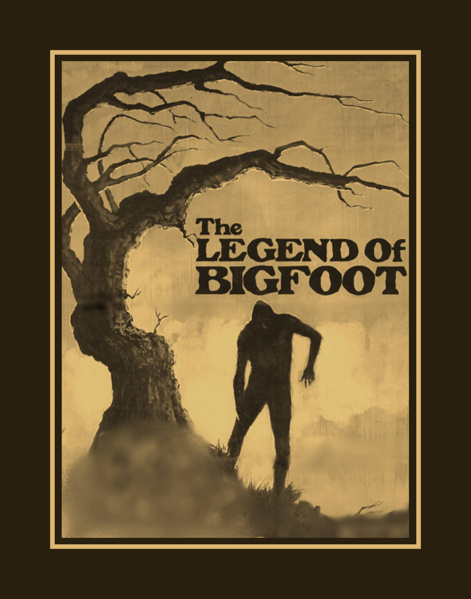 ArleyArt.com: Bigfoot Wall Art Sasquatch Kitchen Bar Wall Decor Yeti Wall  Art Monster Bedroom Wall Decor Big Foot Art Print