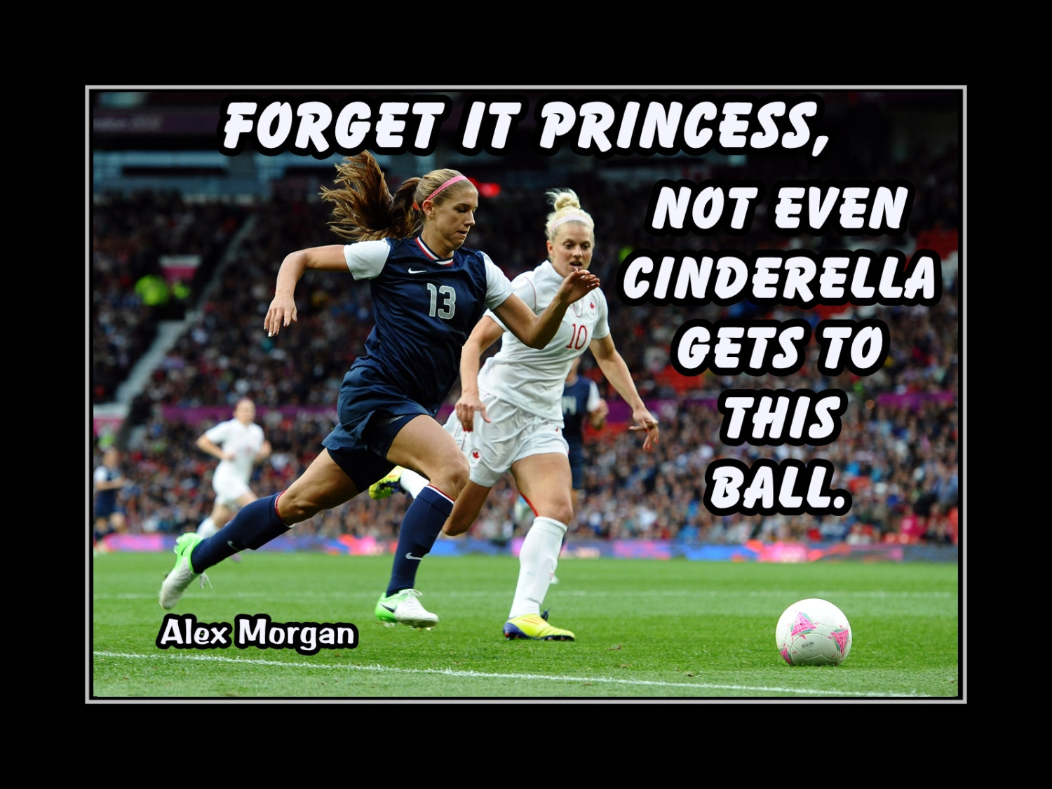 Arleyart alex morgan girls soccer confidence poster cinderella arleyart alex morgan girls soccer confidence poster cinderella quote daughter wall art gift voltagebd Choice Image