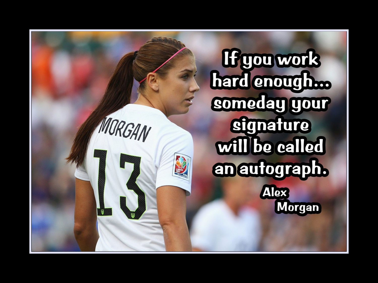 Arleyart alex morgan girls soccer motivation poster coach wall arleyart alex morgan girls soccer motivation poster coach wall art gift hard work quote art voltagebd