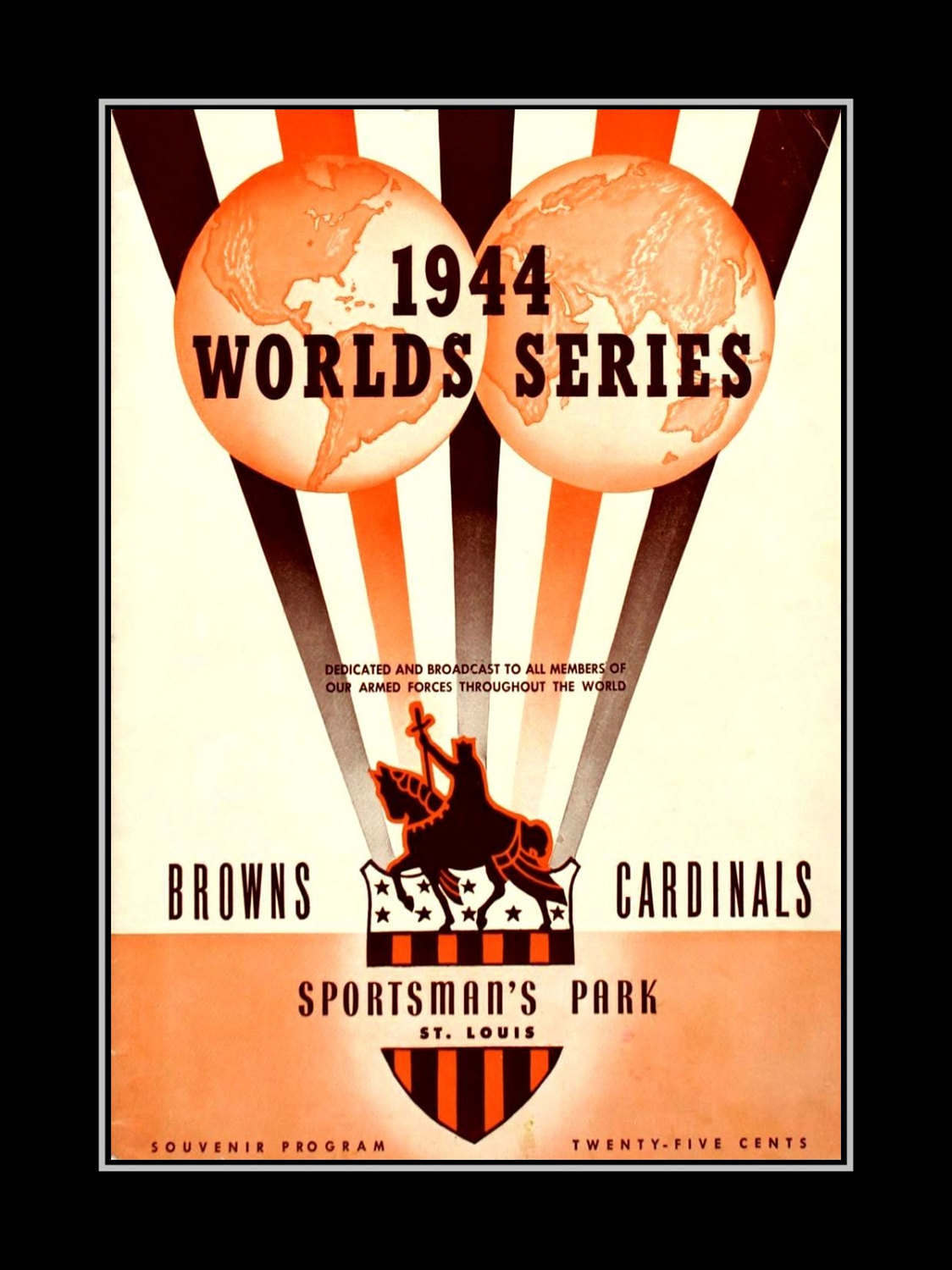Arleyart Com 1944 World Series Wall Art St Louis Cardinals Poster
