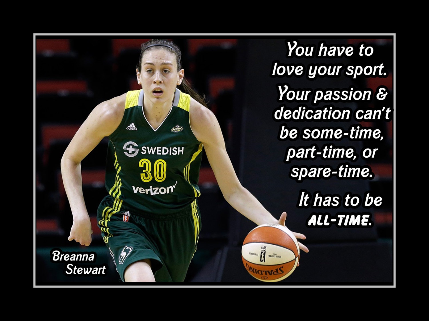 Arleyart Com Breanna Stewart Basketball Motivation Poster Coaching